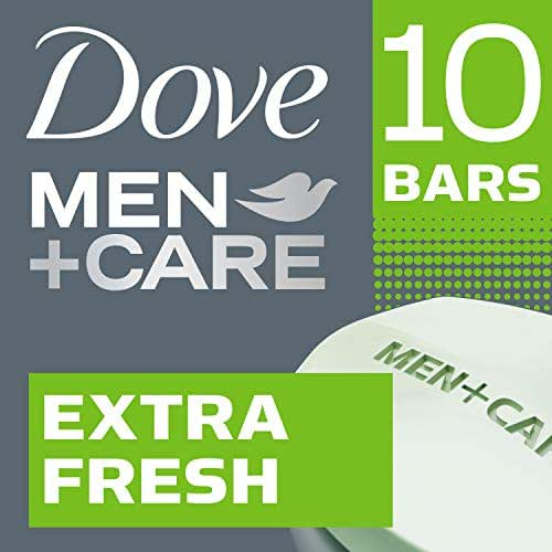 Dove Men+Care Body and Face Bar Extra Fresh 4 Ounce, 10 Count