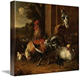 Wall Art Print entitled A Poultry Yard, Melchior D'hondecoeter, C. 1660 - by Celestial Images | 29 x 24