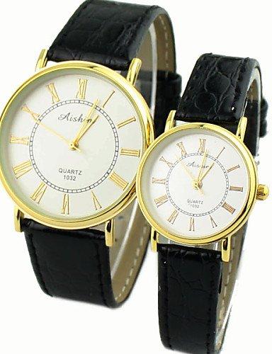 sbsghdx® Moda coreana reloj redondo cuarzo Circular relojes de Stress Del pareja: Amazon.es: Relojes