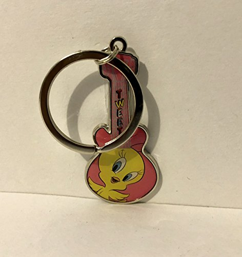 Six Flags Magic Mountain Looney Tunes Tweety Bird Guitar Shape Keychain ()