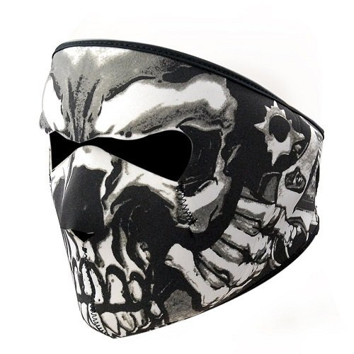 Balaclava Black Fleece Velcro Closure (Neoprene Full Face Ski Mask 2 In 1 Reversible Motorcycle Snowboard Balaclava Breathable Face Shield)