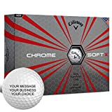 Callaway Chrome Soft X Personalized Golf Balls - Add Your Own Text (12 Dozen) - White