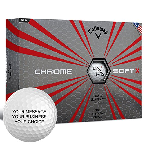 Callaway Chrome Soft X Personalized Golf Balls - Add Your Own Text (12 Dozen) - White by Callaway Custom (Image #1)