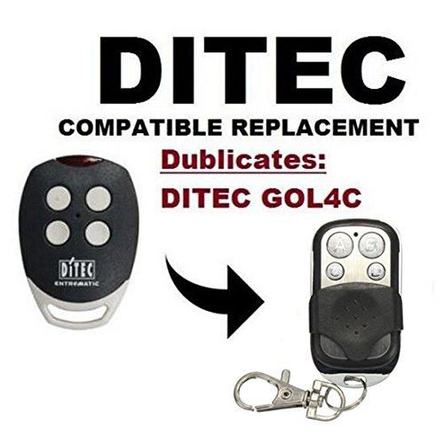 DITEC GOL4C Gate Opener Motor Remote Control Key Fob - 3 Seconds Auto Program Clone 433.92 Mhz | Fix Code