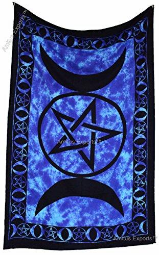 Amitus Exports(TM) Premium Quality 1 X Celtic Star Tie Dye Blue Color Size 81