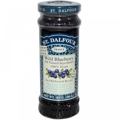 Wild Blueberry Spreads (All Natural 100% Fruit Jam) - 10oz (Pack of 3) by St. Dalfour
