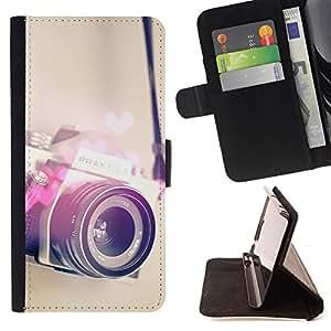 - Queen Pattern FOR Apple Iphone 6 /La identificaci????n del cr????dito ranuras para tarjetas tir????n de la caja Cartera de cuero cubie - camera heart photography love photo -