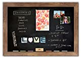 Magnetic Chalkboard with Barnboard Frame