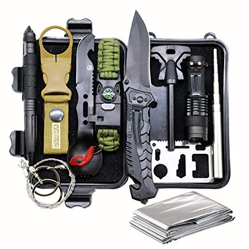 Christmas Gifts for Men, Survival Kit 12 in 1, Fishing Hunting Birthday Gifts Ideas for Him Dad Boyfriend Husband Teen Boy, Gadget Stocking Stuffer, Survival Gear, Emergency Camping Hiking Gear