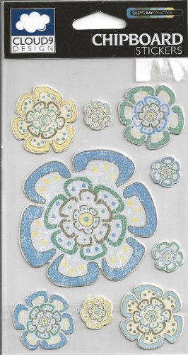 (Riley's Bay Flowers Chipboard Scrapbook Stickers)