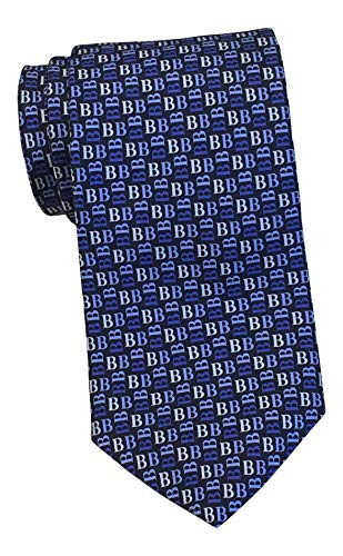 Brooks Brothers Makers and Merchants Navy Monogram Print Tie Brooks Brothers Silk Tie