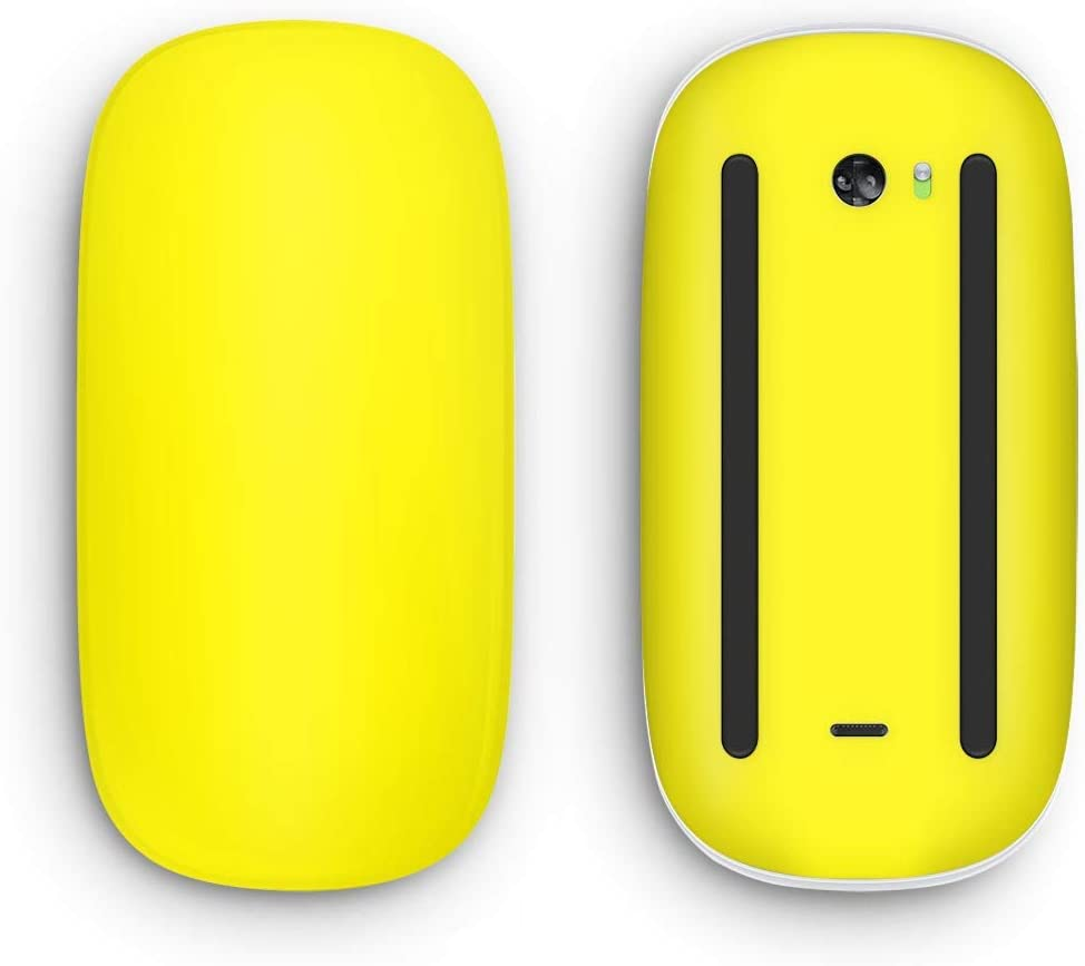Design Skinz Solid Yellow Vinyl Decal Compatible with The Apple Magic Mouse 2 (Wireless, Rechargable) with Multi-Touch Surface