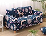 SKY-HAWK Home Dector Sofa Covers With Big Elastic Cover for Couch Loveseat Chair Furniture All-inclusive Sofa Slipcover 1/2/3/4-Seat