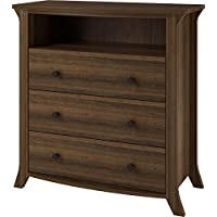 Ameriwood Home Oakridge 3 Drawer Media Dresser, Brown Oak