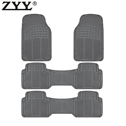 - MGPRO Heavy Duty Weather Trimmable PVC Rubber Grey Car Floor Carpet Mats For Dodge Lincoln Ram