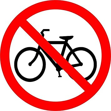 Self adhesive sticker door gate trade shop bicycle parking prohibited sign