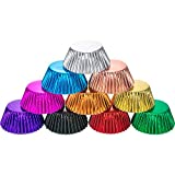 Sumind 10 Colors Paper Baking Cups Foil Cupcake Liners Mini Muffin Case Decoration Cups (400 Pieces)