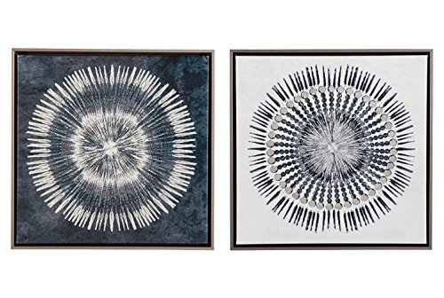 Ashley A8000155 Monterey Set of 2 Wall Art, Blue/White ()