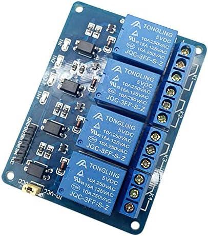1.8 cm 5 V 4 canali Modulo rel/è Scheda di espansione rel/è di schermatura per Raspberry Pi Arm AVR DSP PIC Micro Controller-Blu Deasengmint Blu 7.5 5.5