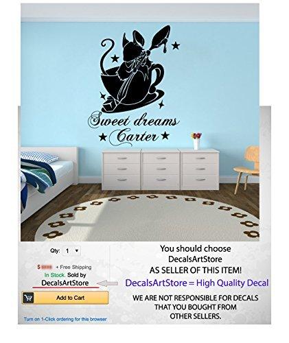 Alice en calcomanías de pared personalizado con nombre personalizado las maravillas dulces sueños cinta adhesiva de vinilo...