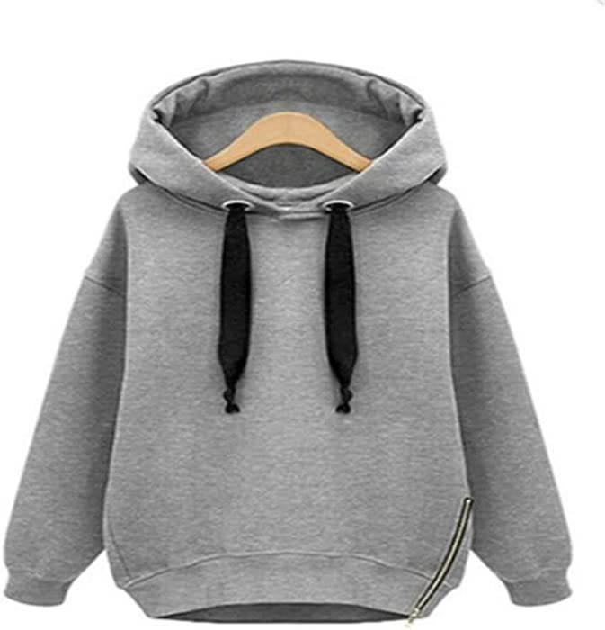 J&D WMHOODIES Hoodie Winter Oversized Hoodie Streetwear Women Long Sleeve Solid Color Hoodies