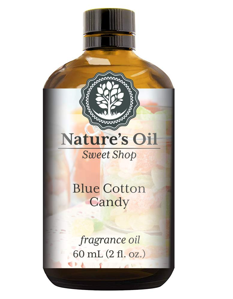 Blue Cotton Candy Fragrance Oil (60ml) For Diffusers, Soap Making, Candles, Lotion, Home Scents, Linen Spray, Bath Bombs, Slime