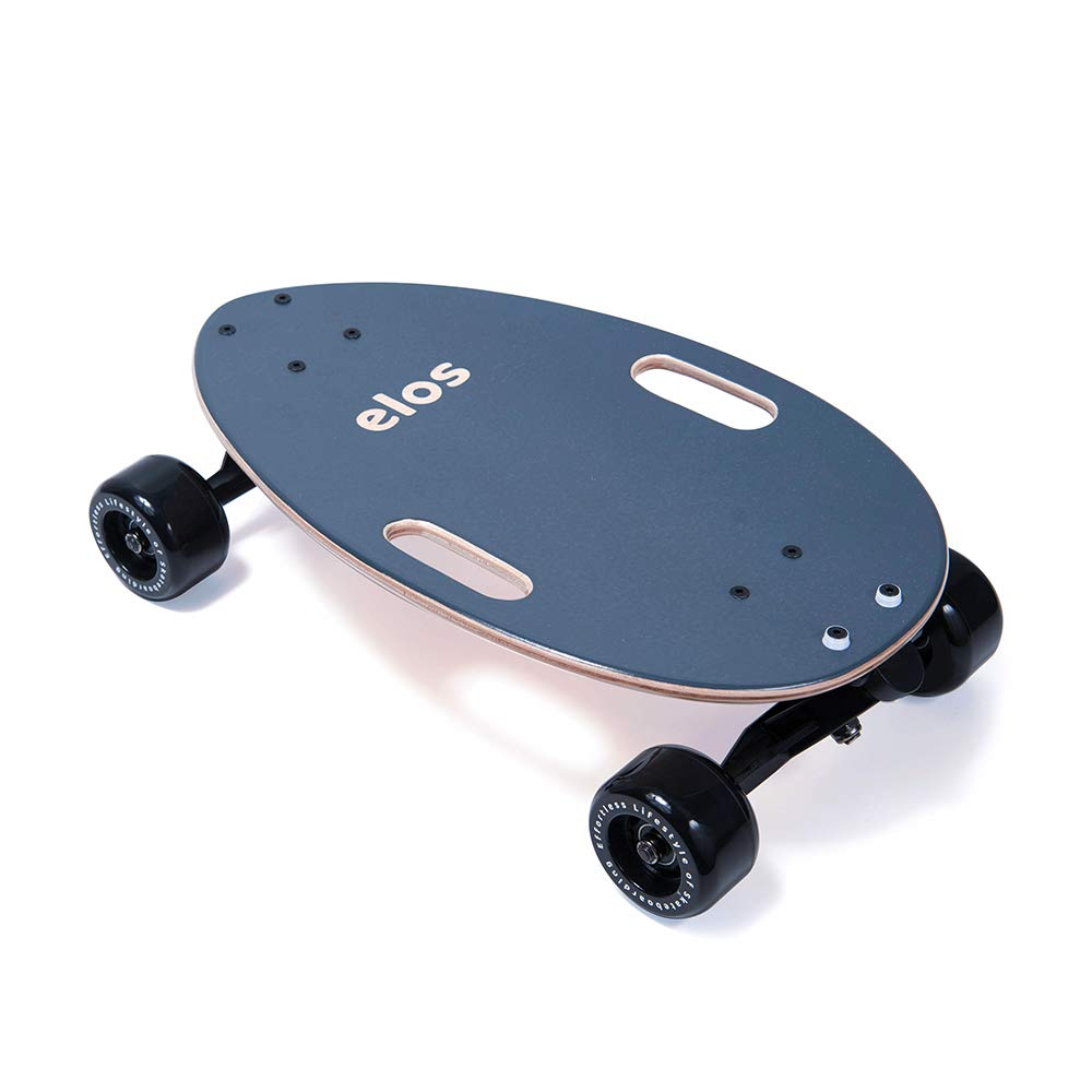 elos Skateboard Complete Classic - The Mini Longboard Cruiser Skateboard Built for Beginners and Urban commuters. Beginner Skateboard. Fun for Kids and Adults. Made in USA.