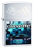 Zippo Lighter Chevy Corvette 1970 Brushed Chrome