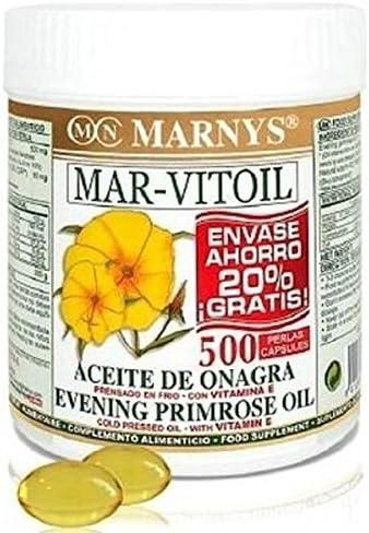 Aceite de Onagra (Mar-Vitoil) 400 perlas de 500 mg de Marnys ...