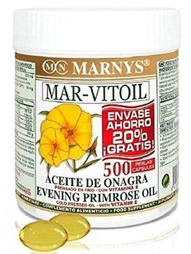 Aceite de Onagra (Mar-Vitoil) 400 perlas de 500 mg de Marnys