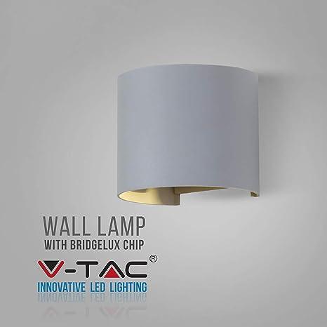 V TAC VT 756 Outdoor wall lighting Negro E27 6 W LED Iluminación al aire libre (Outdoor wall lighting, Negro, Aluminio, IP65, Entrada, Cochera,