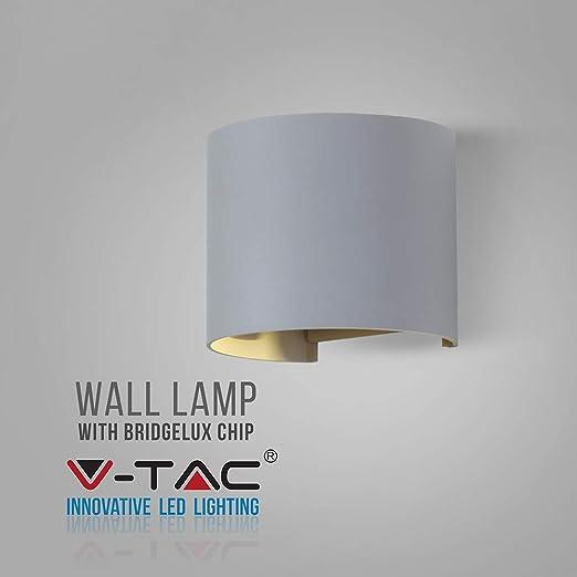LAMPADA DA MURO APPLIQUE 6W BIANCO ESTERNO IP65 DOPPIO LED V-TAC VT-756 naturale