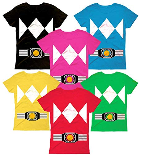 Power Super Hero Halloween Costume Shirt Rangers Funny Family Matching Customized Handmade T-Shirt Hoodie_Long Sleeve_Tank Top_Sweatshirt -