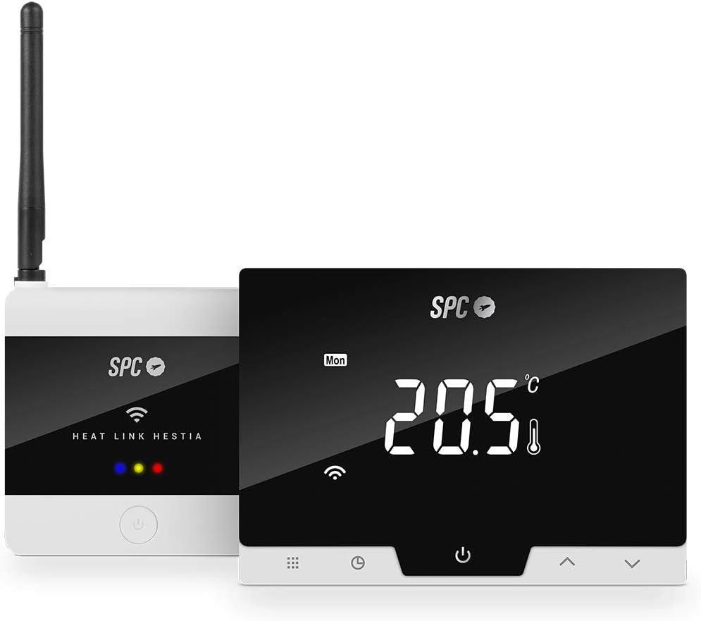 Hestia: Termostato Wi-Fi, Control Inteligente de la calefacción Mediante SPC IoT App, Amazon Alexa, Google Assistant
