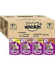 Whiskas 1 + Katzenfutter – Hochwertiges Nassfutter für gesundes Fell – Ausgewogenes Feuchtfutter in verschiedenen Geschmacksrichtungen