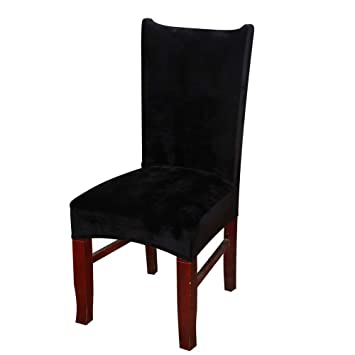 Homaxy Premium Velvet Texture Dining Room Chair Covers Stretchable Kitchen Decoration Cover
