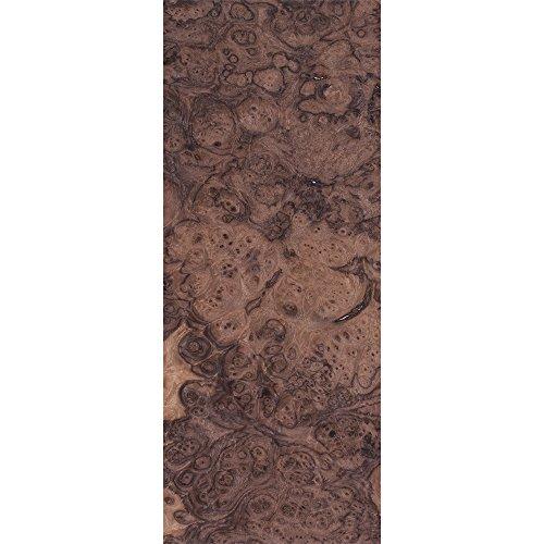 Walnut Burl 4 Way Match Veneer Pack, 8x18 4pc