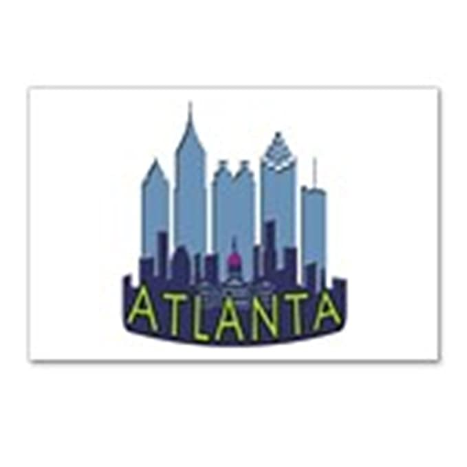 Amazon com : CafePress - Atlanta Skyline Newwave Cool