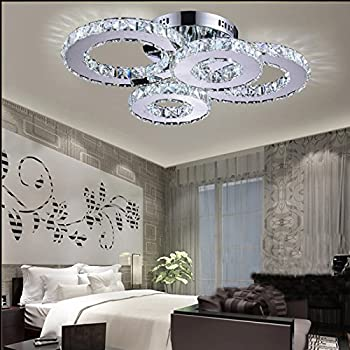 LightInTheBox LED Crystal Lamp Atmosphere Living Room Lamp Creative Ceiling  Lamp Bedroom Lamp Deluxe Round Hall