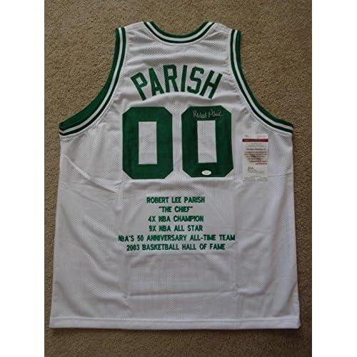 0bfbf257f7a 70%OFF Signed Robert Parish Jersey - White Stat - JSA Certified - Autographed  NBA