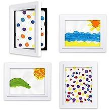 Li'l Davinci Art Gallery - Set of 4 White Frames for 8.5x11 artwork