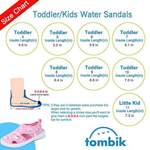 tombik Toddler Cute Aquatic Water Shoes Boys/Girls Beach Sandals