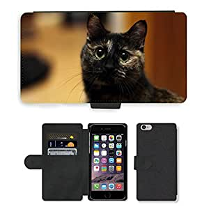 "PU LEATHER case coque housse smartphone Flip bag Cover protection // M00134579 Gato Bobtail // Apple iPhone 6 4.7"""