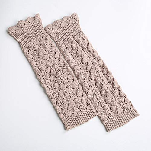 (Wamers Girls Warm Socks Europe and the United States Knitted Japan and South Korea socks piles of socks like lace long section to pick up the hole leggings foot cover (Color : Beige) ( Color : Beige ))