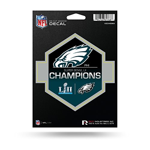 NFL Philadelphia Eagles Super Bowl LII Champions Die Cut Decal - Super Bowl Champions Pennant