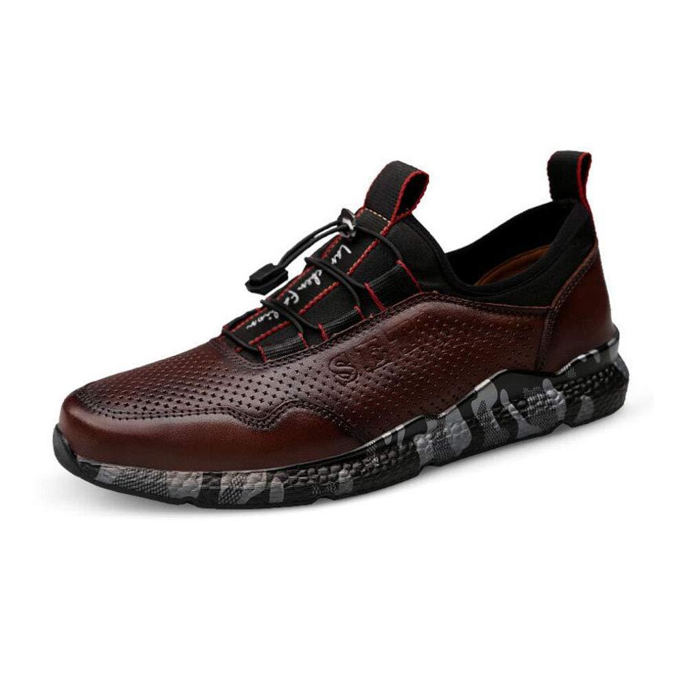 YAXUAN Laufschuhe Herren Komfortable Schuhe Herbst Herbst Herbst und Winter Sportschuhe Herrenmode Freizeitschuhe Leder Atmungsaktive Schuhe (Farbe   B Größe   43) 5d5159