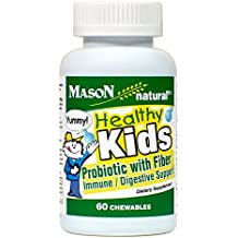 Mason Natural Healthy Kids Probiotic with Fiber Immune/Digestive Support Chewable Tablets, 60 Count