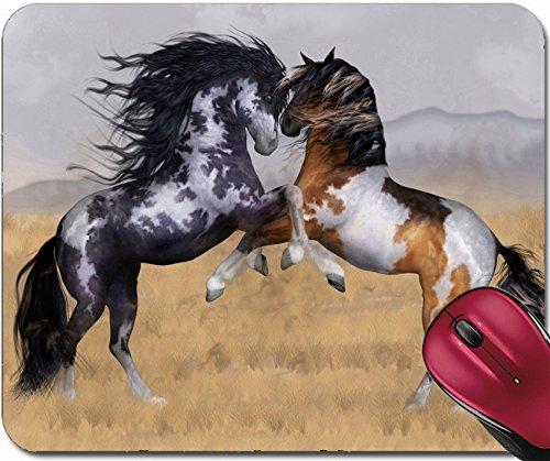 Liili Mousepad IMAGE ID: 17665460 Wild And Free Two Stallions Fantasy Horse Art Greeting - Stallion Logo