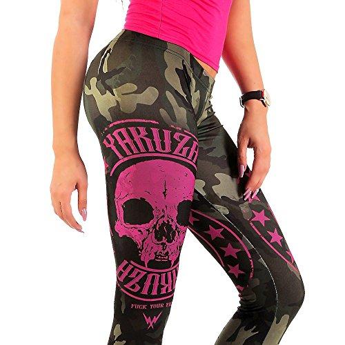 Yakuza Mujeres Pantalones / Legging/Tregging Military Lady camuflaje
