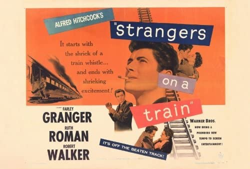 Amazon.com: Strangers on a Train POSTER Movie (27 x 40 Inches - 69cm x  102cm) (1951) (Style B): Posters & Prints